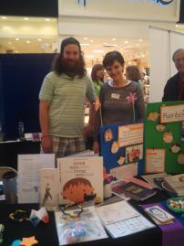 Rainbows Director Isabel and Facilitator/Board member Alex had a great time at the volunteer fair this day!